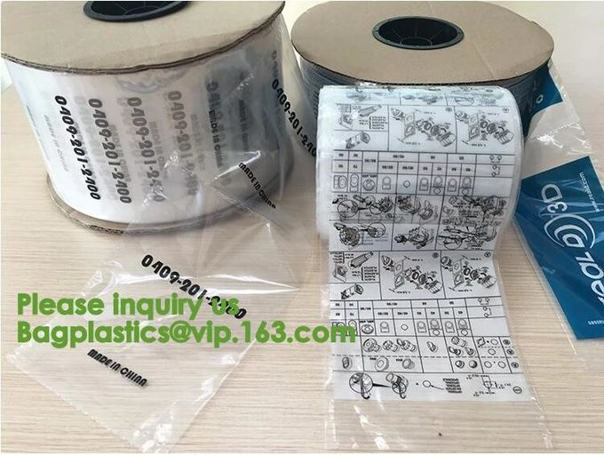 Auto packing bag perforated plastic roll bags,Food grade auto plastic packing bag,auto machine plastic packaging bag
