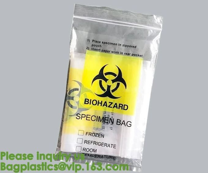 Waste Disposal Guide for Research Labs,HDPE Biological Hazard bags,Biological Hazard Waste Bags, 600 x 500mm, Yellow-50/