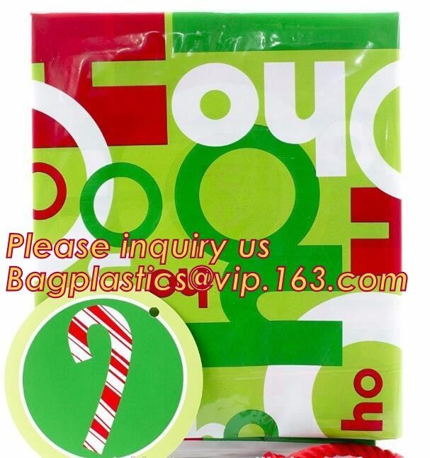 Various Styles Christmas Santa Claus moose Snowman self-adhesive Cookie packaging bags for biscuits snack christmas