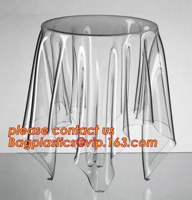 ECO 0.23mm Multi Sizes Customization Made Soft Glass Transparent Waterproof Oilproof PVC Tablecloths Table Cover TPU EVA