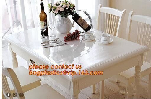 Disposable Tablecloths Plastic Tablecloths Thicken Tablecloths White Film Transparent Waterproof Table Cloth BAGEASE