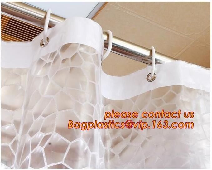 SEVEN COLOR DOT SHOWER CURTAIN, Fashion beautiful flower printing retractable bathroom shower curtain, China Manufacture