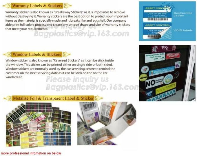 Fluorescent stickers,foul,direct thermal,hologram,thermal labels,food packaigng, promotional label,touletries, UV vanish