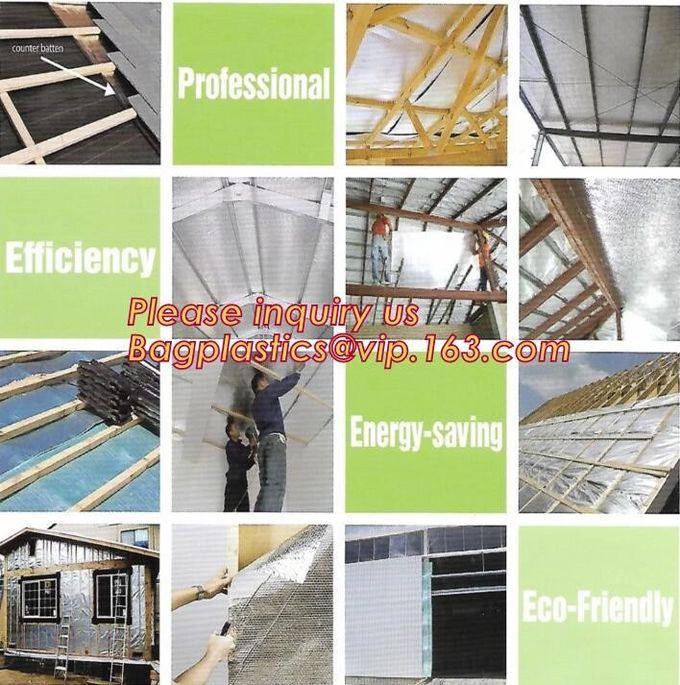 Aluminium laminated foil woven cloth vapor barrier lowes thermal insulation,foil fiberglass cloth,roof sarking,EPE,XPE