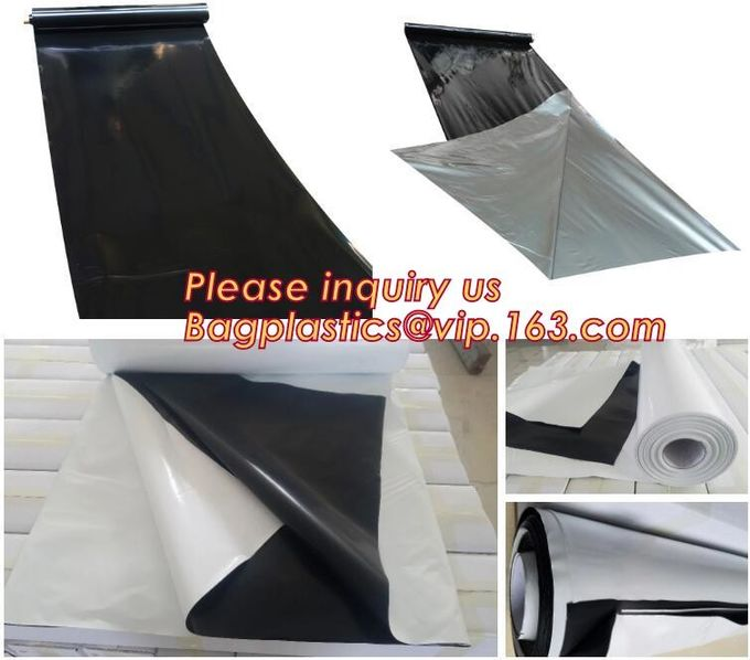0.1mm 0.12mm 0.15mm 0.18mm 0.2mm 0.25mm hydroponic agriculture white/black panda opaque polyethylene PE film BAGPLASTICS
