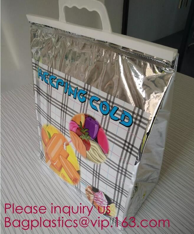 Aluminum Foil Food Use Disposable Cooler Bag Insulated Thermal Bag Organizer Storage Frozen Lunch Bag bagease bagplastic