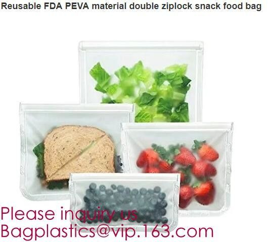 Reusable food storage PEVA snack bag for custom,Clear PEVA Toy Organization Storage Bag for Christmas bagease bagplastic