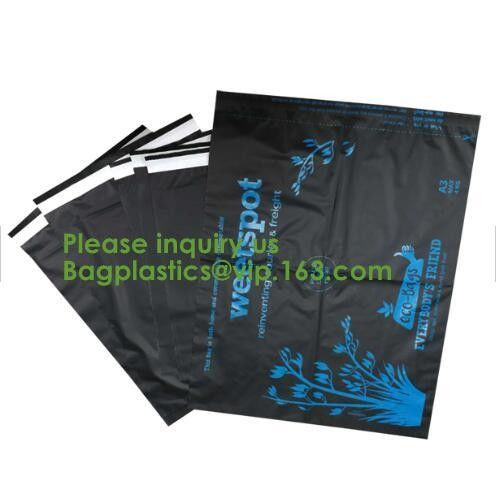 Biodegradable compostable plastic courier shipping envelope custom 10x13 matte black poly mailers bag bagplastics bageas