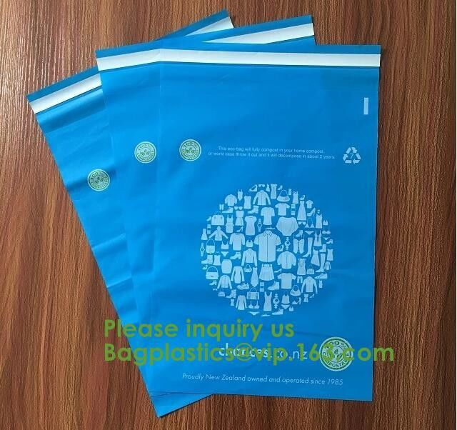 Die cut handle custom compostable biodegradable cornstarch made plastic mailing bags,Cornstarch made biodegradable compo