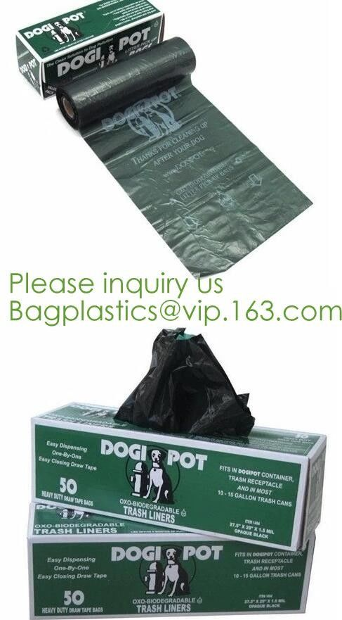 Drawstring Drawtape liner sacks, sachets, closure,shopping biodegradable compostable clear plastic grocery shopping bag,