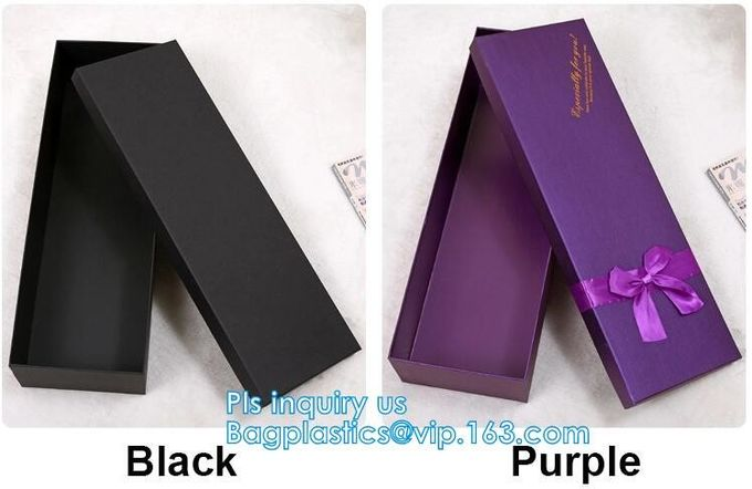 Luxury Black Hardcover Rigid Paper Packaging , Custom Logo Printed Foldable Cardboard Flat Pack Gift Box with UV logo