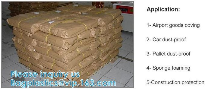 Airport Truck Goods Waterproof Film Pallet Covering Film PE Sheet Dust-Proof Film Film House Decoration