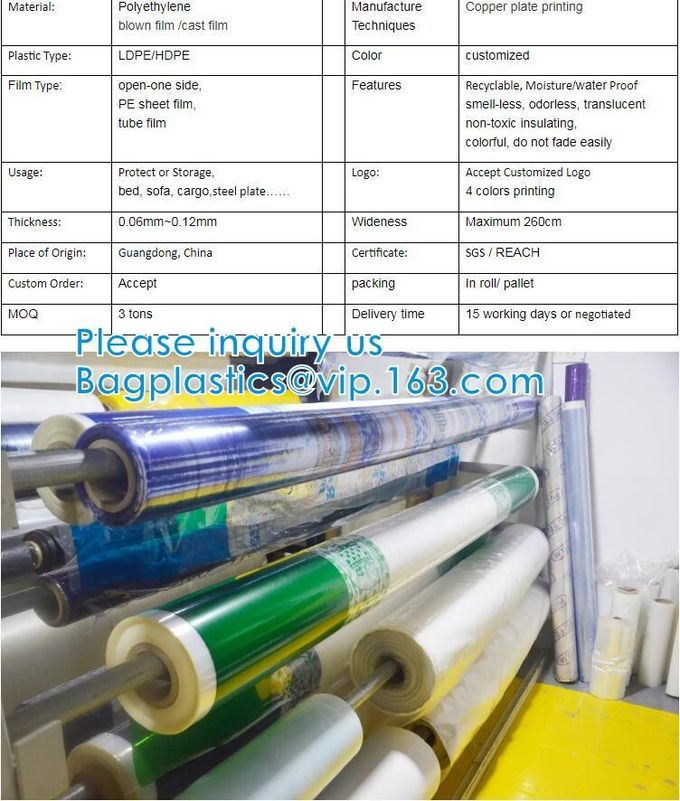 PE Heat Shrink Plastic Film Rolls For Packaging With Customized Size And Colours