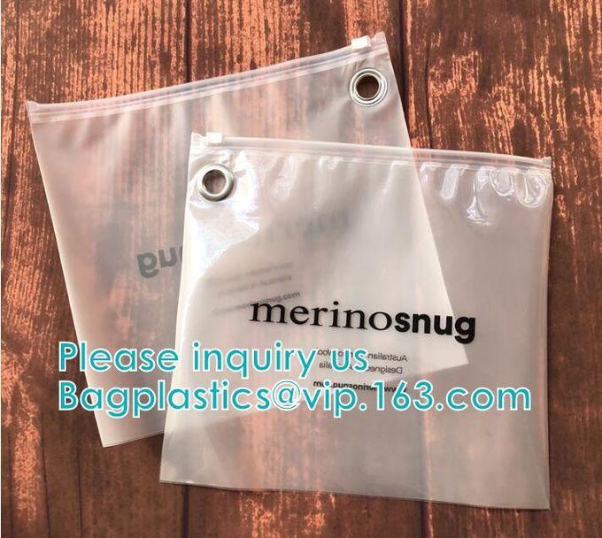 Custom Transparent PVC Slider Zip Lock Bags Frosted EVA Zipper Packaging Bag For Garment,Self Zip Lock Apparel Packaging