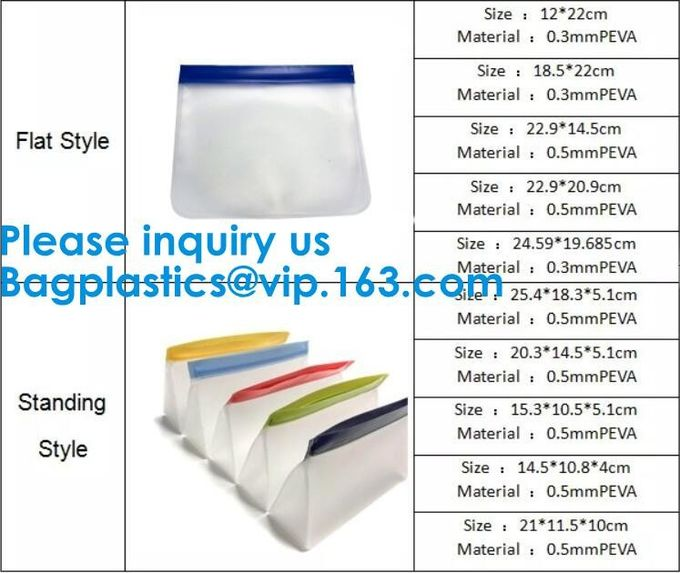 FOOD GRADE SILICONE: Strong, Thick 100% Durable Silicone Food Bags, Non-Toxic, Non-Leaching Hygienic And Reusable Food B
