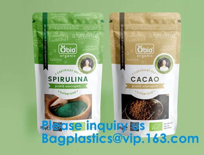 Supplements protein Packaging, Drip Filter Hanging Ear Coffee Kraft Paper Foil Outer Bag Pouch Bag, Biodegradable