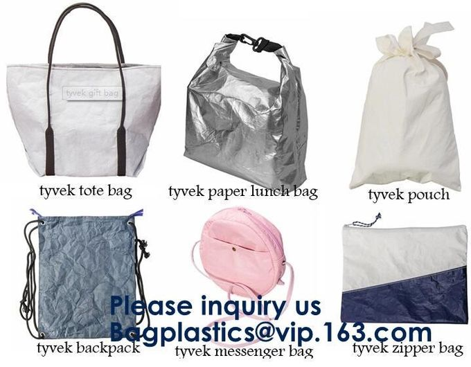 DuPont Paper Bags Shopping Bag,Custom LOGO Tyvek Washable Tearproof Paper Tote Shopping Bag, Bagease, Bagplastics, Pak