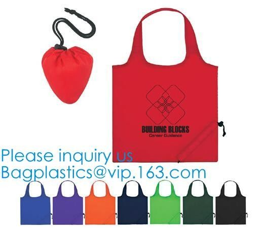 Promotional Standard Size Portable Reusable Eco Friendly Foldable Polyester Fish Shape Shopping Tote Bags With Handle