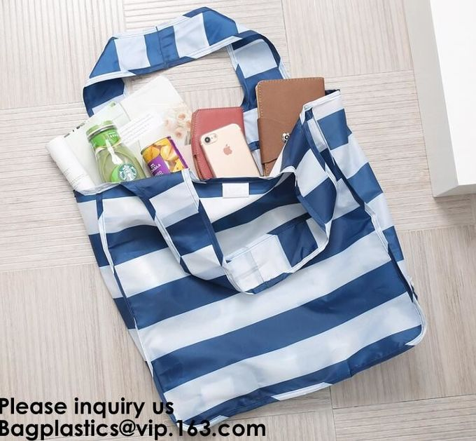 Foldable Handled Polyester Bag, Wholesale New Design Strawberry Polyester Nylon Bag,Reusable Foldable Polyester Carry Ba