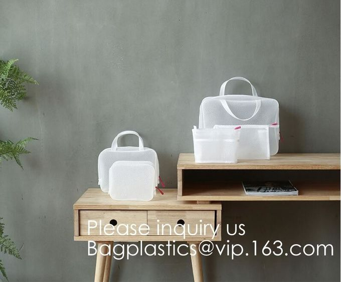Eco ladies cosmetic bag PU leather pvc cosmetic pouch,Reusable Ladies Girls Clear Transparent PVC Cosmetic Pouch