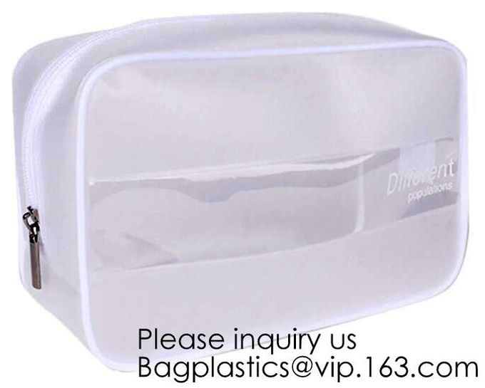 FANCY LOVE 3Pcs//Set PVC Transparent Storage Zip Lock Plastic Make Up Wash Bag Set