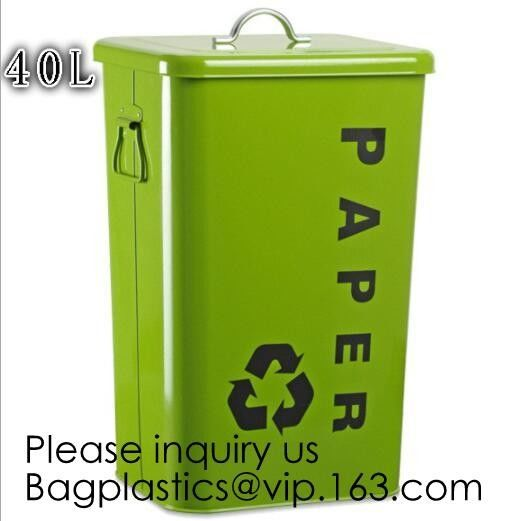 Kitchen/Home/Household/Outdoor/Recycling,Copper Garbage Can Tin Garbage Bin,Pedal Tin Waste Bin,galvanized metal Tin gar