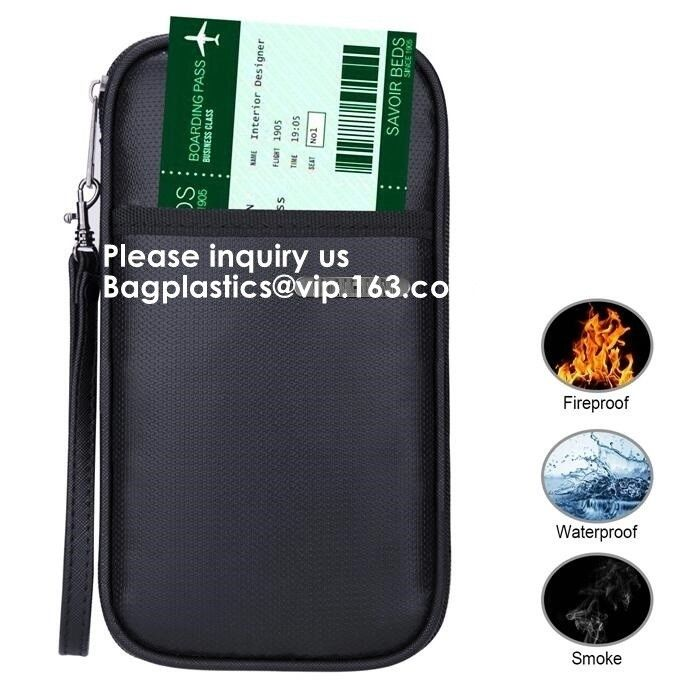 High Quality Fireproof Felt A4 Document File Folder Bag For Office,Fireproof Explosion-proof Lipo battery safe Bag
