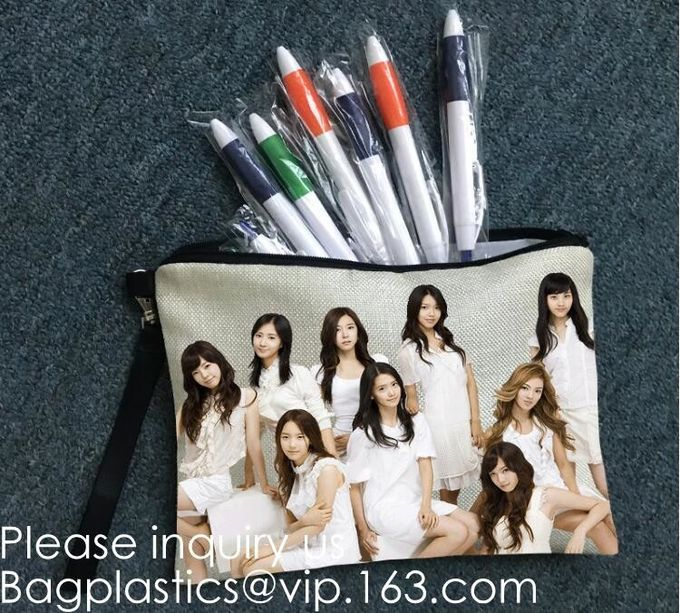 Canvas Pencil Bag Factory Student Creative Canvas Stationery Bag Korean Version Girls'Large Capacity Multilayer Pencil B