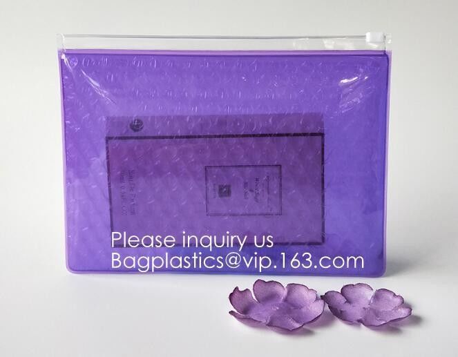 Recyclable Stand-Up Clear Plastic Cosmetic Promotion Packing Bag,Reusable Wet Wipe Eva Stand Up Pouch Bag, bagease, bag