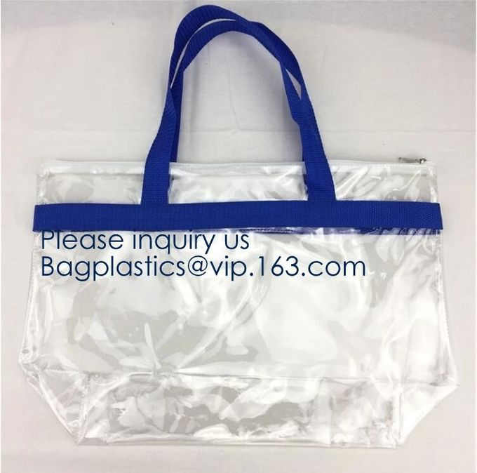 Custom Clear Transparent Holographic PVC Shopping Bag Holographic Tote Bag Pvc Handbag Transparent Tote Shopping Bags