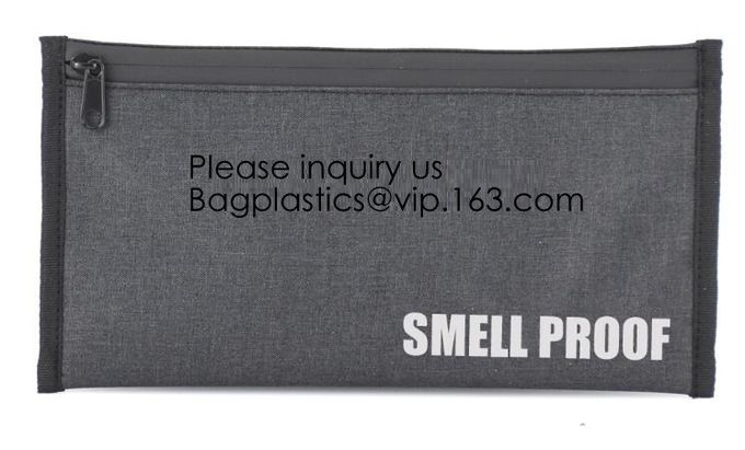 ASTM APPROVED CHILD-REISISTANT POUCH BAGS,Travel Discreet Containers Odor Blocking Resealable Storage Smell Proof Bag Wi