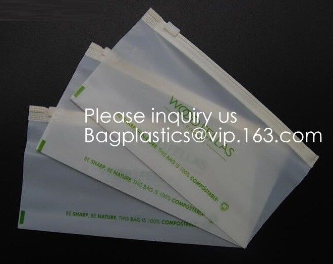 Eco PLA 100% Biodegradable Corn Starch Compostable Plastic Zipper Bag,Resealable PLA Biodegradable Poly D22/EPI PAC Bag