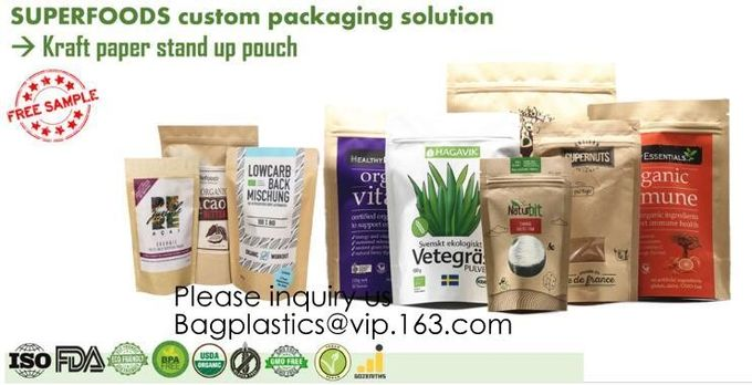 Polypropylene bags, Soup Pouches, Roll Stock, Aluminum Foil Bags, Stand up Pouches Flat bottom 8 side gusset food grade