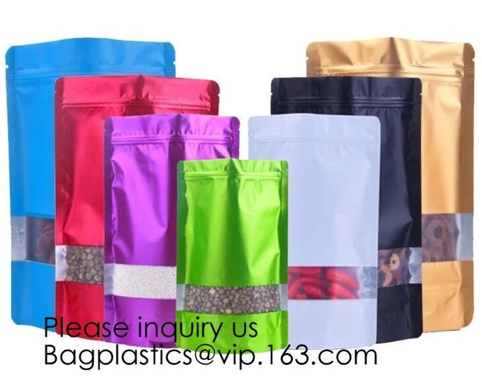 Heat Seal Flat Pocket Mylar Foil Open Top Packaging Bags Coffee Tea Food Storage Aluminum Foil Vacuum Pouch Bag  bagease