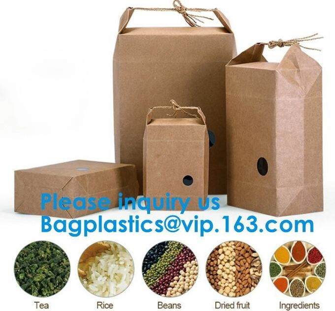 Printing Packing Gift Shopping Brown Kraft Paper Bag Accept Customized Logo Paper Bag With Rope Handle bagease bagplasti