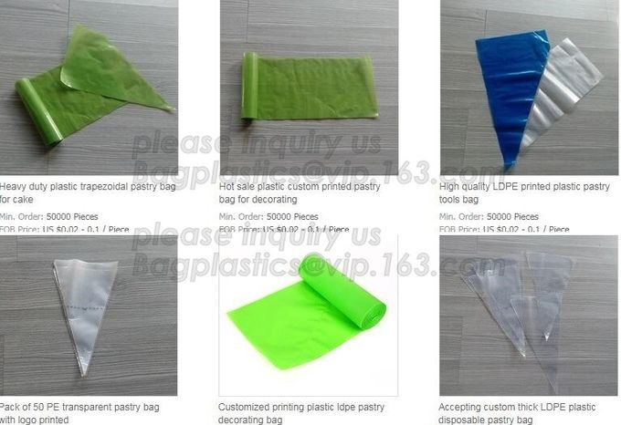 PE Plastic Icing Piping Cake Decorating Pastry Bag Candy Making Bags, Cake Cream, Decorating, Pastry Bags, Piping, Pastr