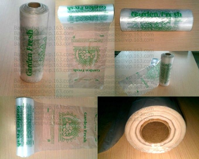 Supermarket Shopping Fresh Fruit Vegetable Packaging Plastic Bag On Roll Polythene Bags, Ldpe Bags, Hdpe Bags, Food Serv