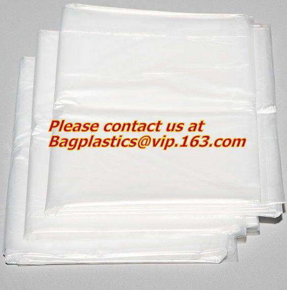 "Hotel Laundry Bags, 1.25 Mil Plastic with Tear Tie and Write-On Strips, 14"" x 24"", Biodegradable - CASE of 1,000 bagease"