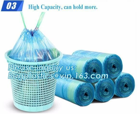 indoor/outdoor waste bags Rubbish Black Bag Trash Can Liners for Kitchen Home Bathroom Bedroom Toilet Office Rubbish Bin