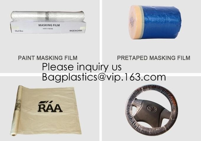 Clear Plastic Sheeting 10 Micron 20 x 250ft – Transparent Protective Masking Film – Automotive Painting & More, bagease