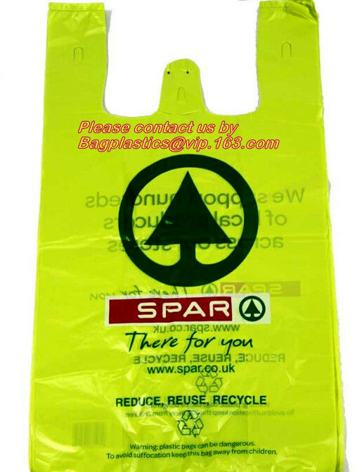 Compostable Grocery T-Shirt Bags, Eco Friendly, Biodegradable, 2 Gal - 4 Gal Small Clear Trash Bags Office, Bulk