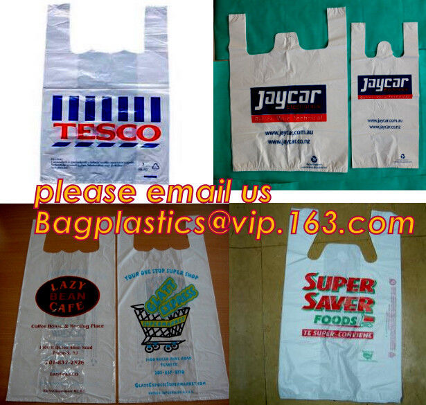 Large/Regular Grocery Size,Oxo-Biodegradable Plastic Shopping Bags, Thank You Printed, 13 Micron, HDPE, 1000 Bags/Box