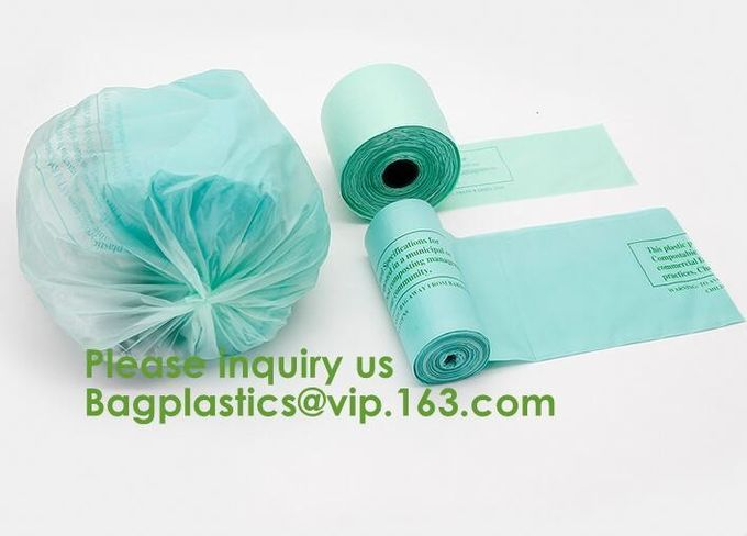 Biobased Compostable Vest T-shirt Handle Bags,Shopping, Shopper, Singlet, Vest Carrier, Tie handle, Top tie, NIce Day