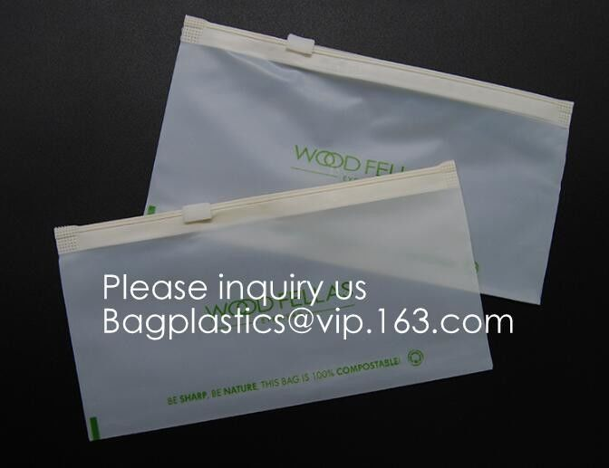 PLA compostable Clear poly custom printed plastic ziplock bags,APPAREL Dress Ziplock Bag,garment packaging bag, bagease