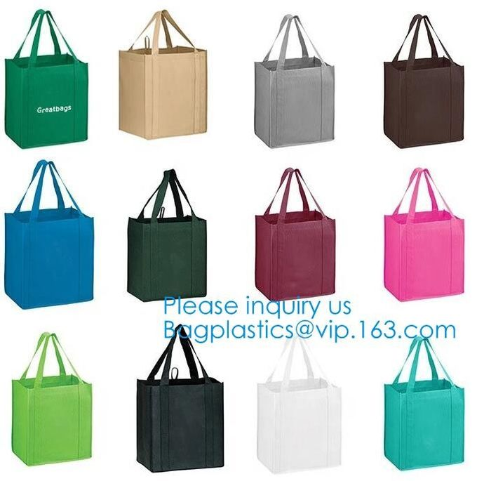 Reusable Grocery Tote Bags (6 Pack, Black) - Hold 44+ lbs - Large & Durable, Heavy Duty Shopping Totes - Grocery Bag wit