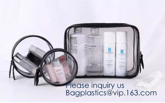 Makeup Bags, TSA Approved Transparent Travel Toiletry Bag, Waterproof PVC Cosmetic Pouch Organizer, Quart Size Durable Z