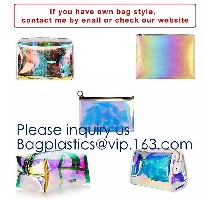 Makeup Bag Cosmetic Bag Travel Toiletry Bag Waterproof Makeup Zipper Portable Transparent Pouch Set - Black, bagease pac