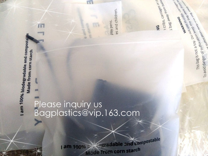 PLA Biodegradable Corn Starch Compostable LDPE Ziplock Bag, Environmentally friendly, recyclable, reusable, reclosable
