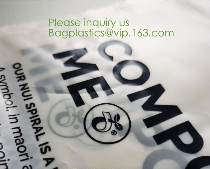 Wholesale Custom Environmentally Friendly 100% Compostable Biodegradable Self Sealing Corn Starch Plastic Packaging Bag