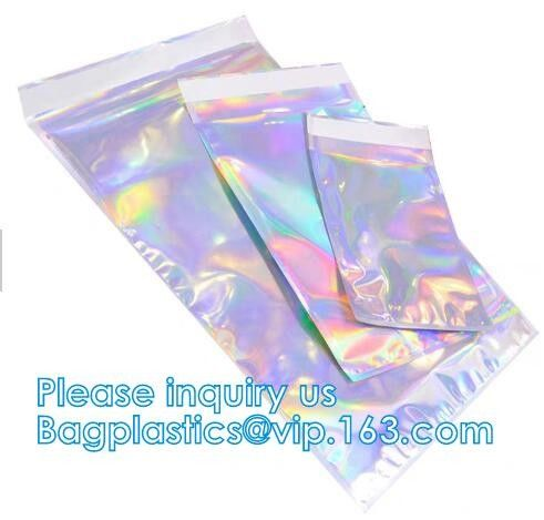 Metallized mailer pac Hologram Shiny Foil Glamour Holographic Mailers Metallic Mailer Apparel garment clothes Packaging